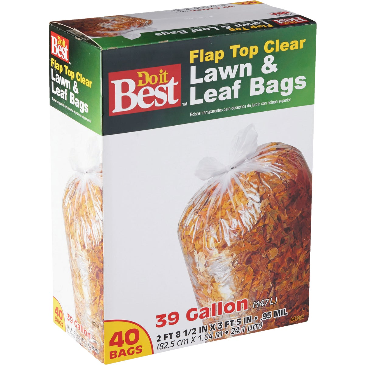 39GAL/40CT LAWN/LEAF BAG
