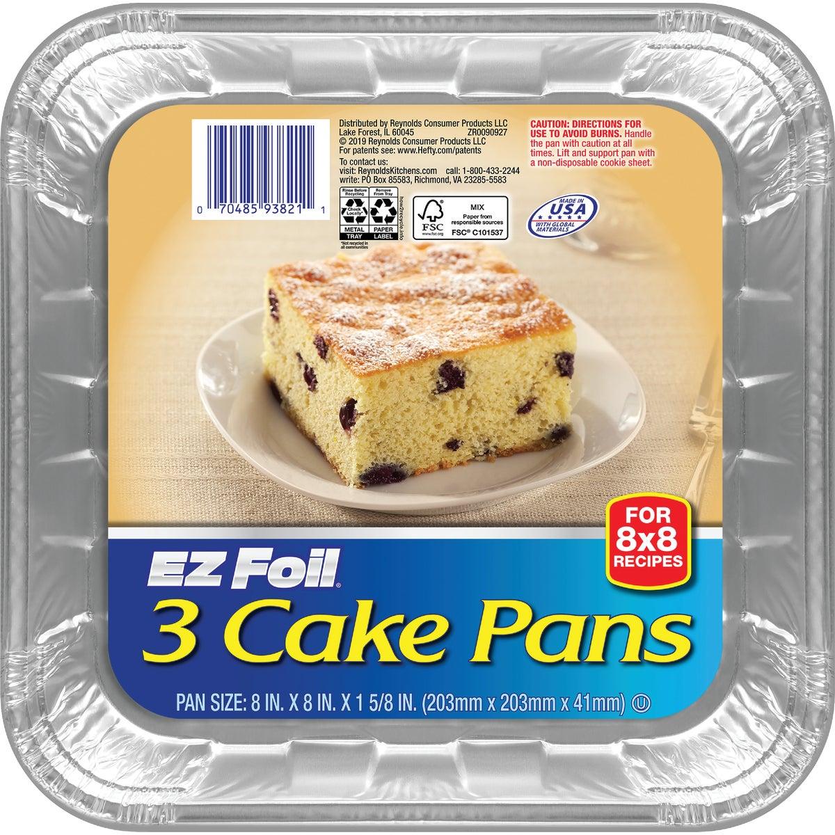 SQUARE CAKE PAN - 93821 by Pactiv/ez Foil