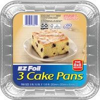 Pactiv/E Z Foil SQUARE CAKE PAN 93821