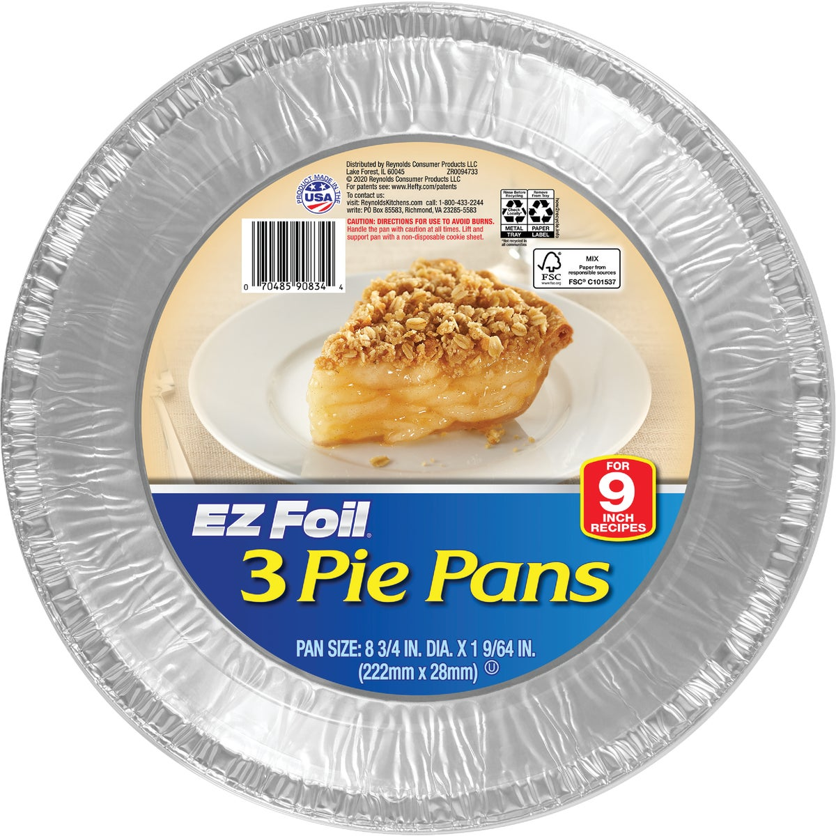 DEEP PIE PAN - 90834 by Pactiv/ez Foil