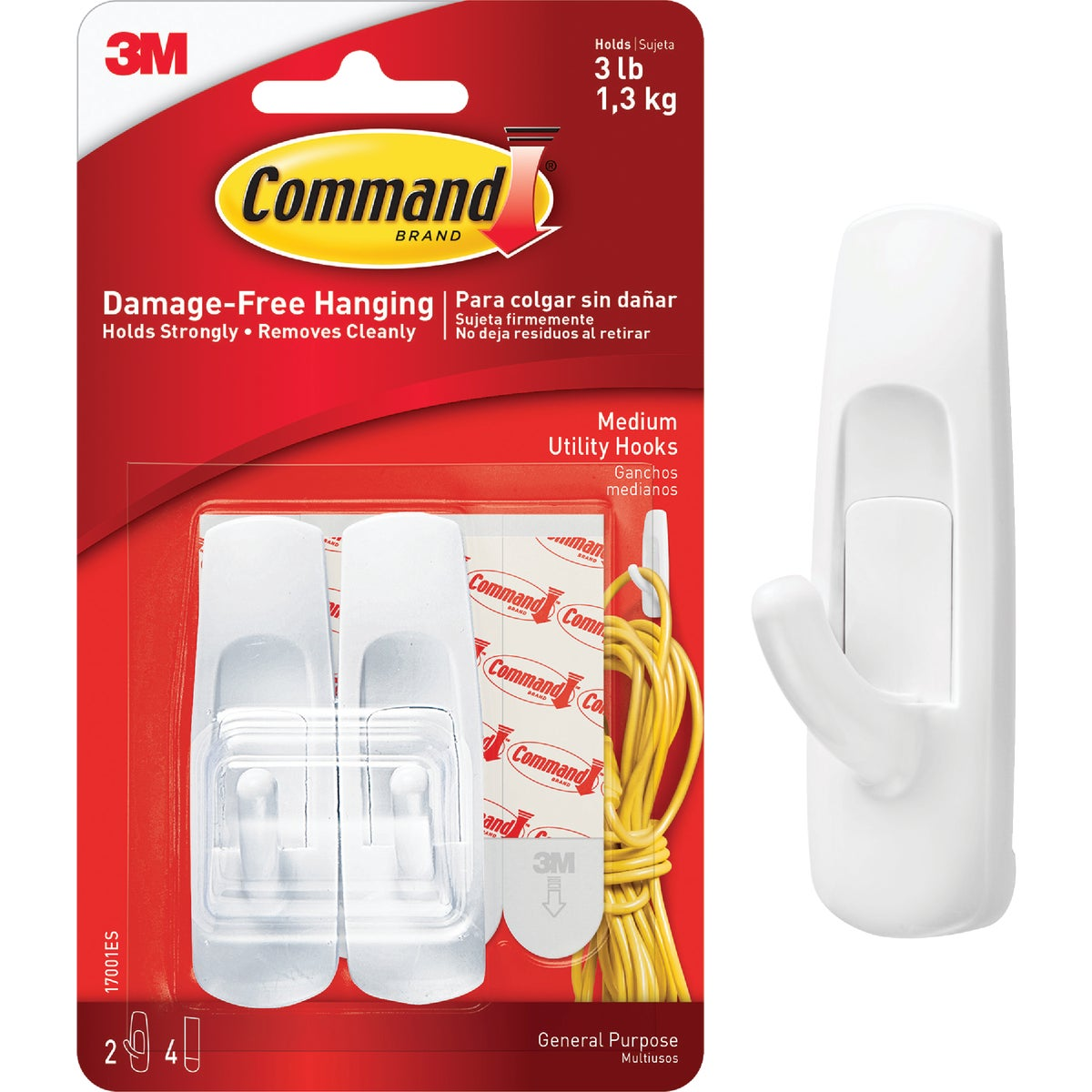 COMMAND MED UTILITY HOOK - 17001 by 3m Co