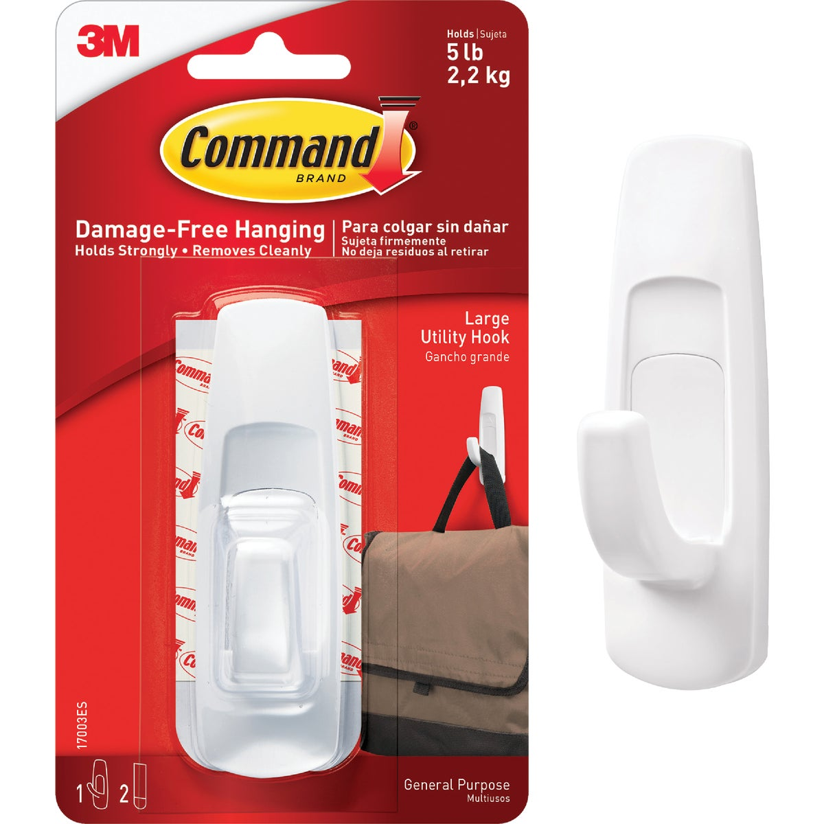 COMMAND LRG UTILITY HOOK - 17003 by 3m Co
