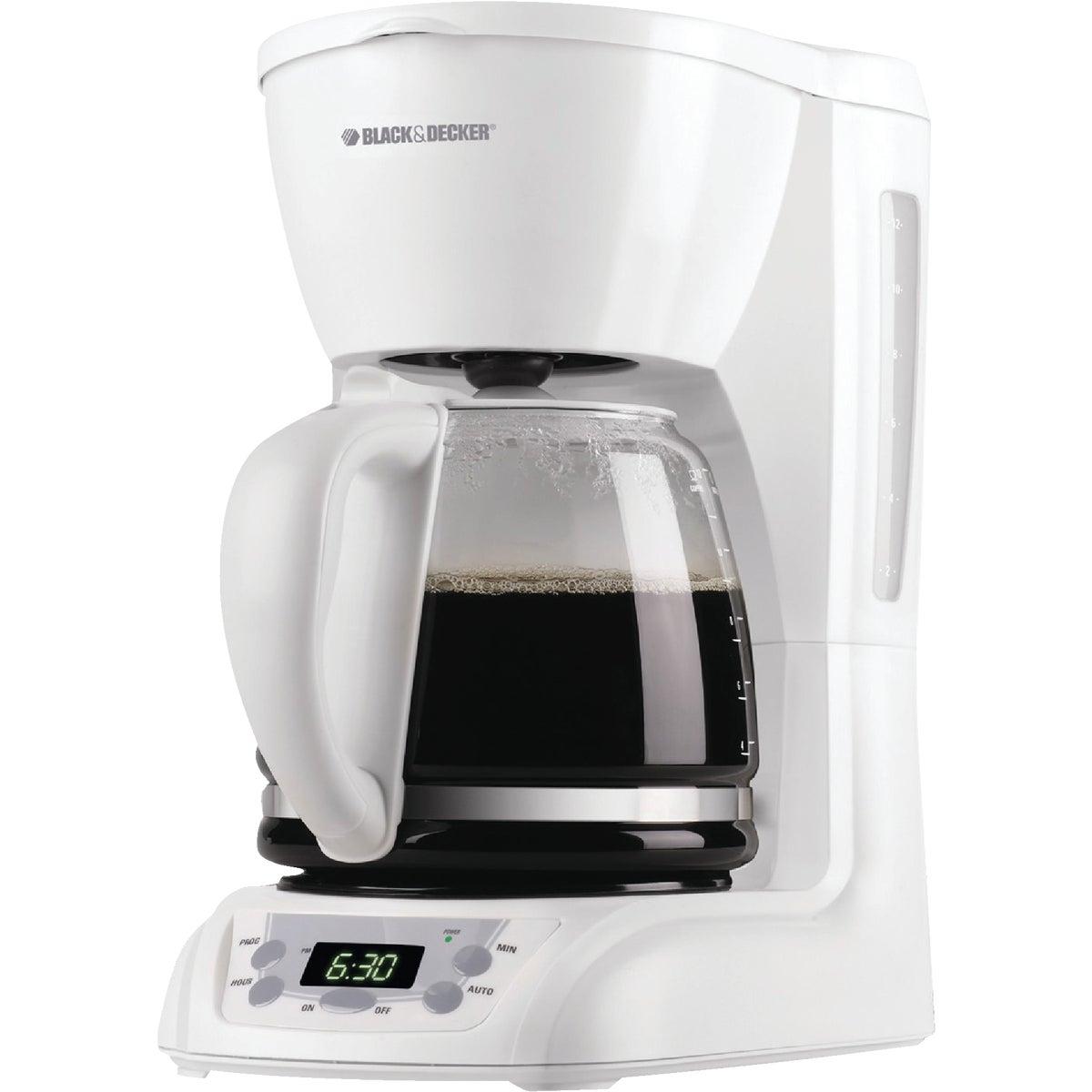 WHT 12-CUP COFFEE MAKER - DLX1050W by Applia      Spectrum