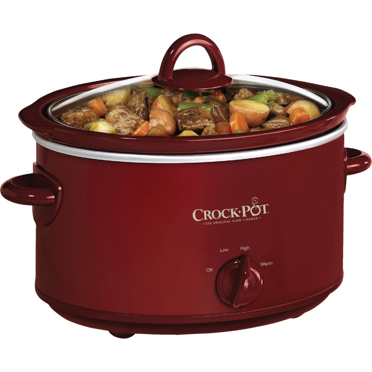 RED 4QT OVAL SLOW COOKER