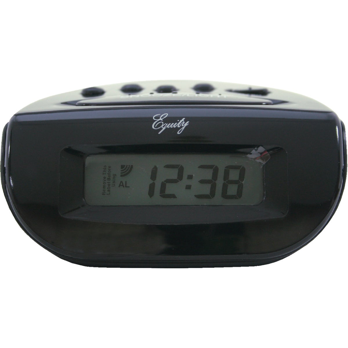 BLACK LCD ALARM CLOCK - 6016AT by Geneva Clock Company