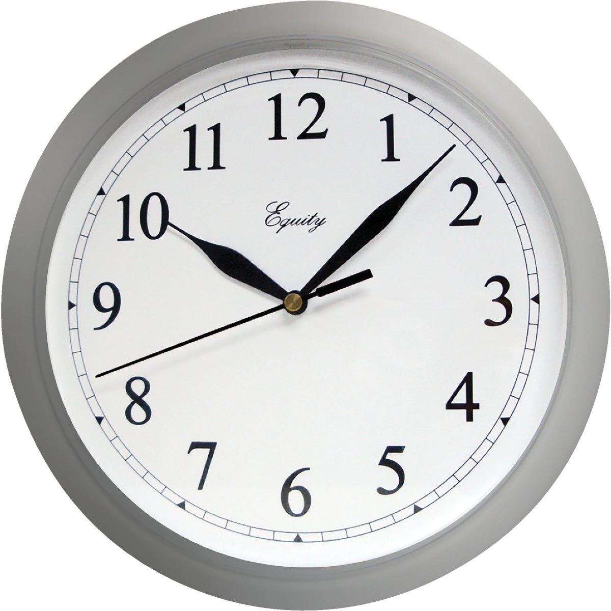"10"" SILVER WALL CLOCK - 8108 by Geneva Clock Company"