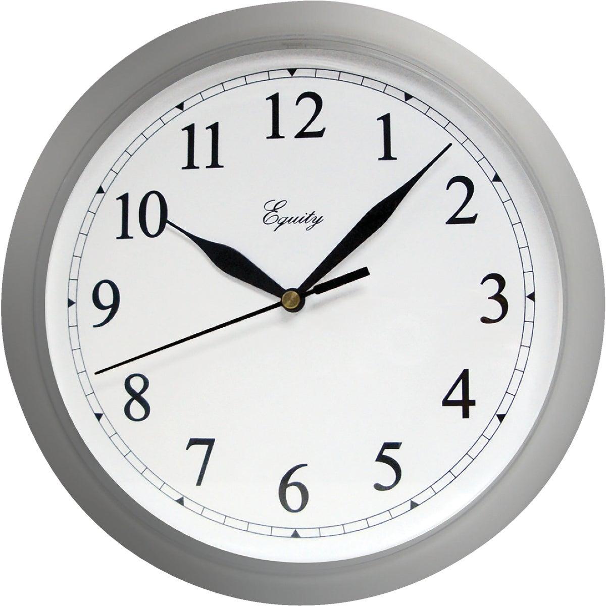 """10"""" SILVER WALL CLOCK - 8108 by Geneva Clock Company"""