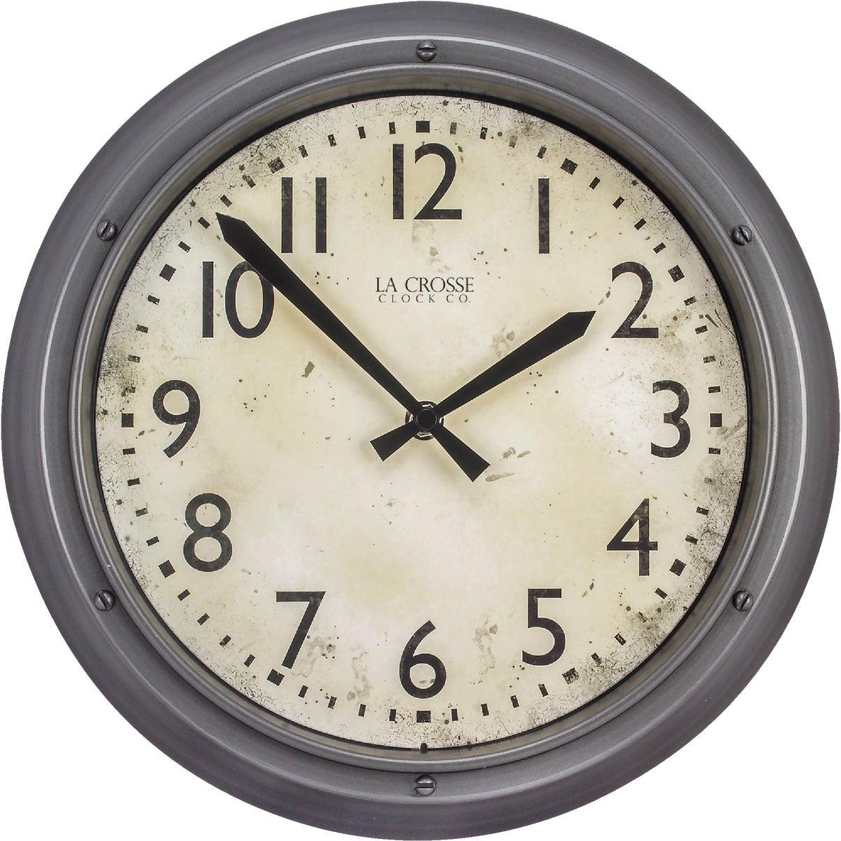 """12"""" PLASTIC WALL CLOCK - 4388G by Geneva Clock Company"""