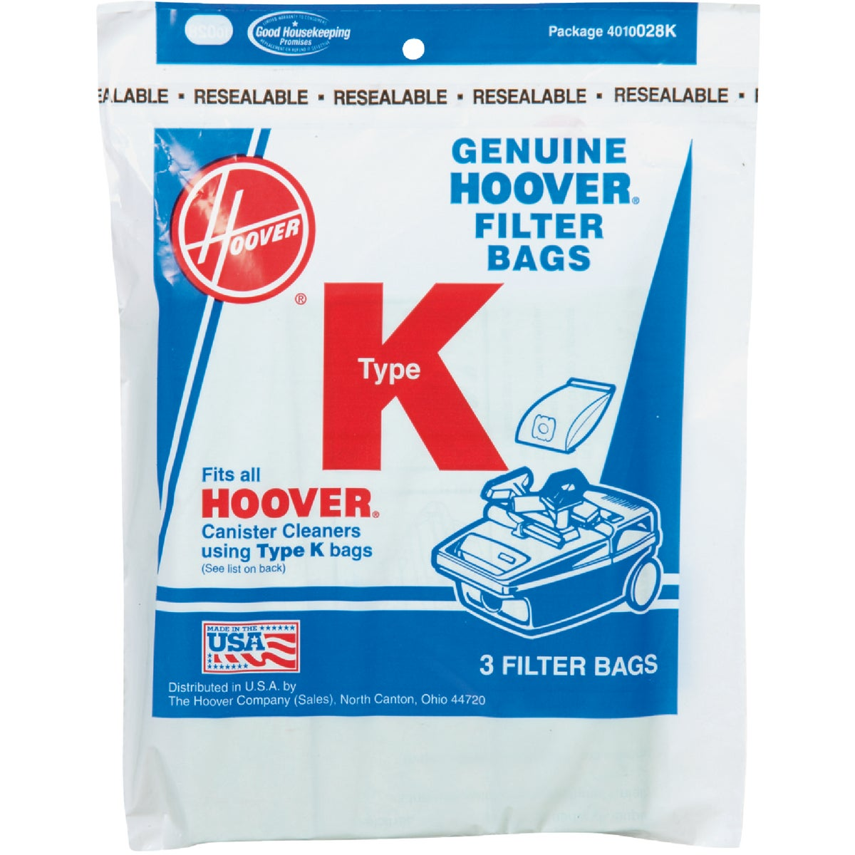 TYPE K VAC CLEANER BAG - 4010028K by Hoover Co