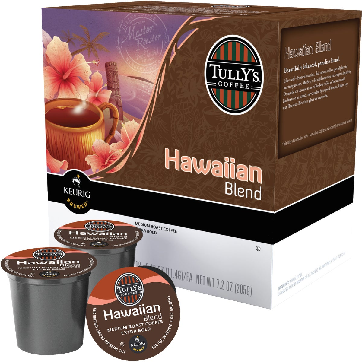 TULLYS K-CUP HAWAIIAN BL - 114014 by Keurig     M Block
