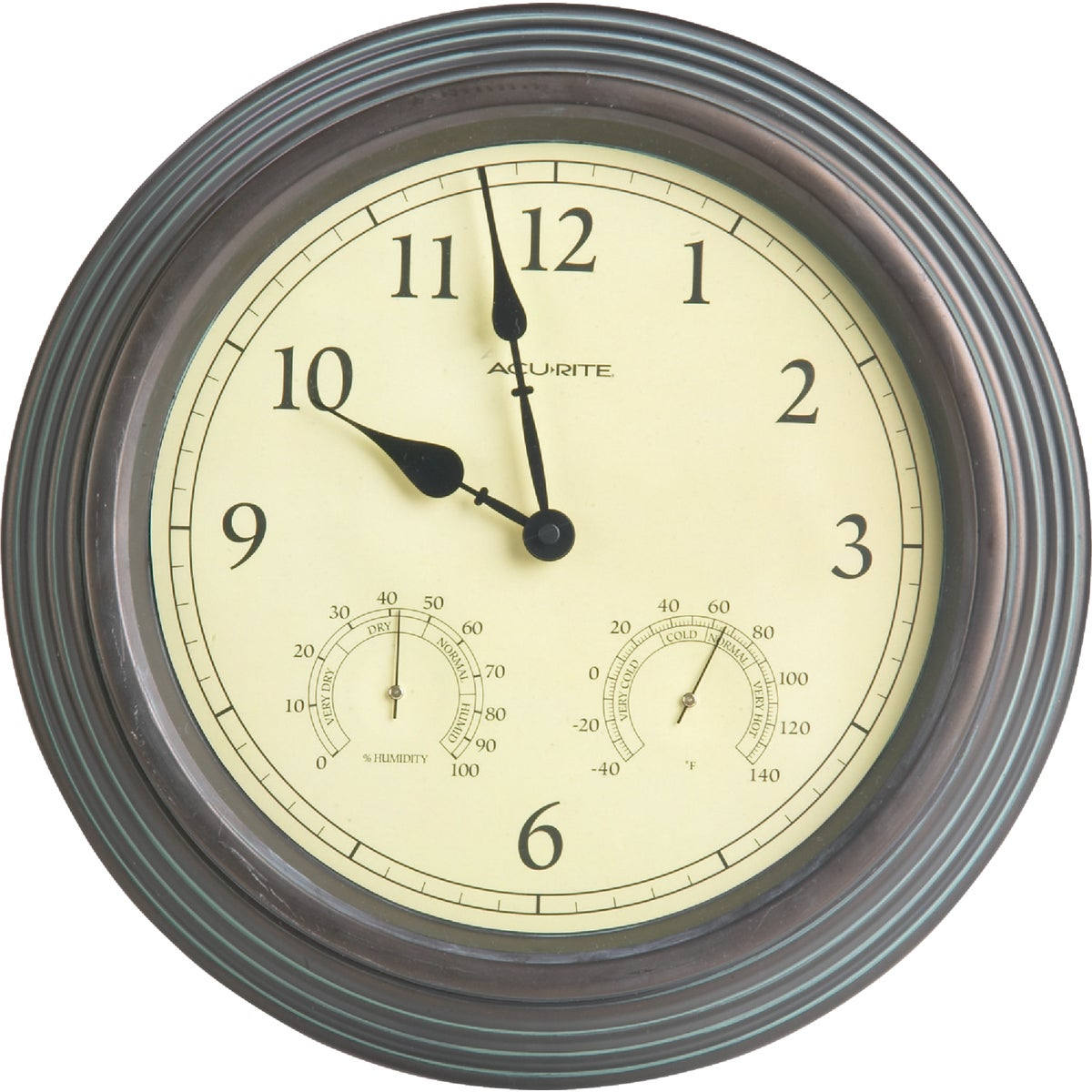 "15"" COPPER THERMOM/CLOCK - 01063 by Chaney Instrument Co"
