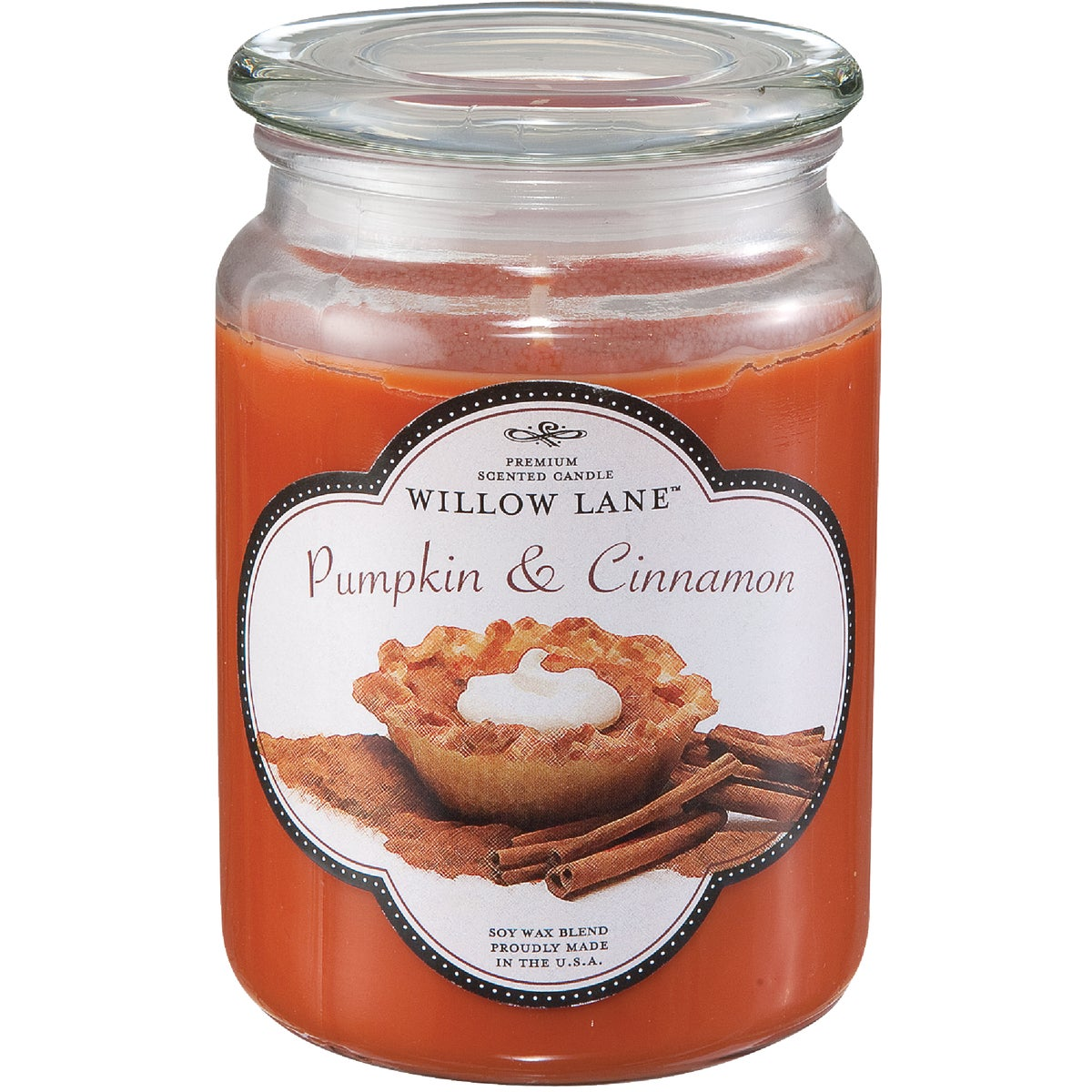 PUMPKN/CINAMN JAR CANDLE