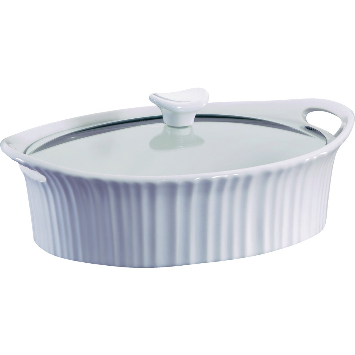 OVAL COVERED CASSEROLE - 1105935 by World Kitchen  Ekco