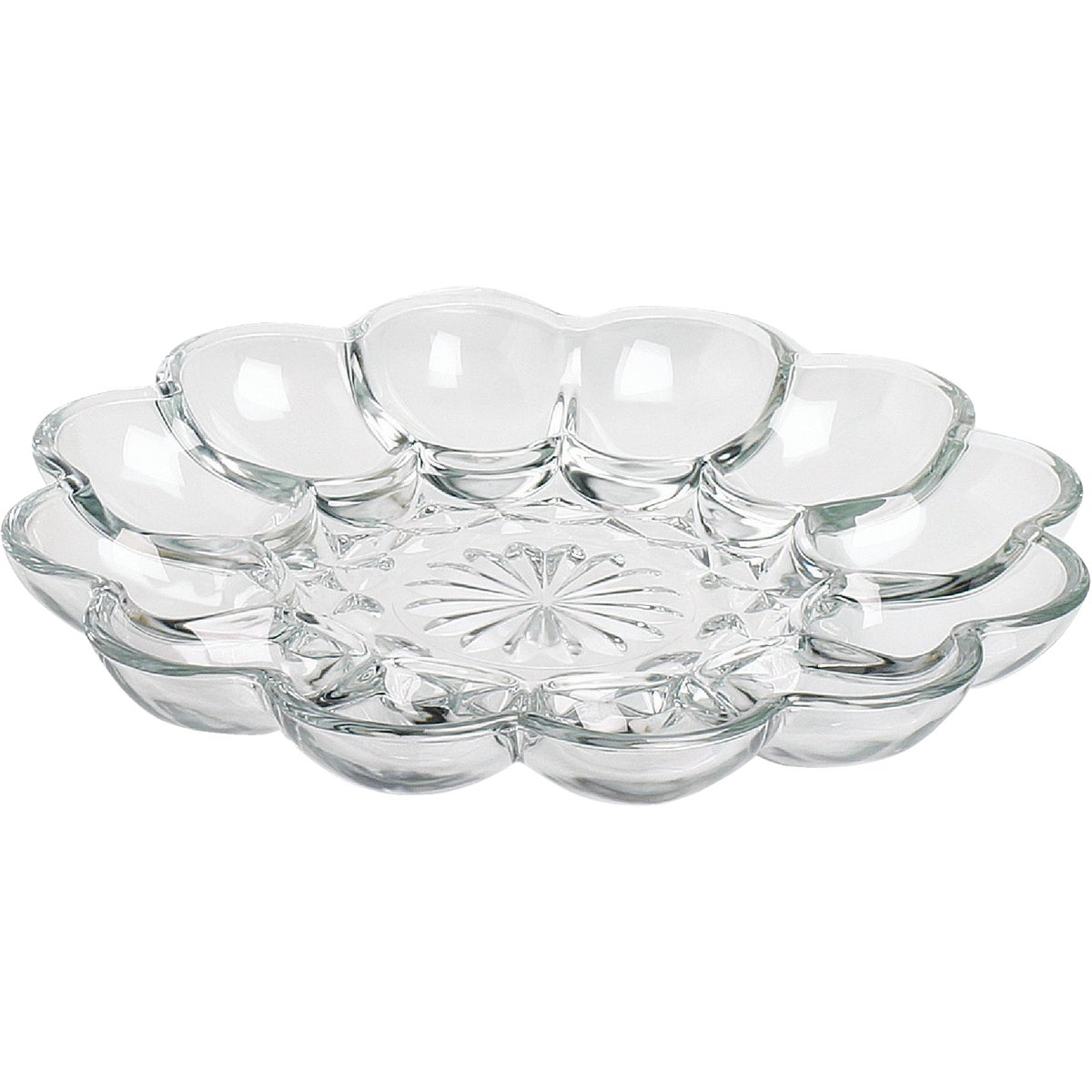 GLASS EGG PLATE - 86148 by Anchor Hckg Roberts