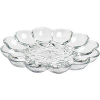 Anchor Hocking GLASS EGG PLATE 86148