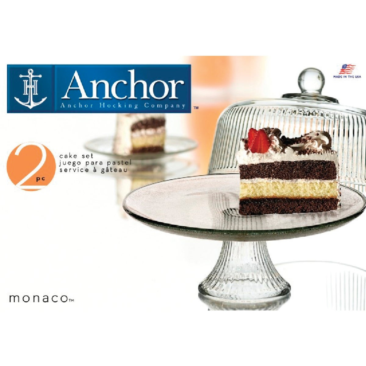 MONACO DOME CAKE SET - 86031L6 by Anchor Hckg Roberts