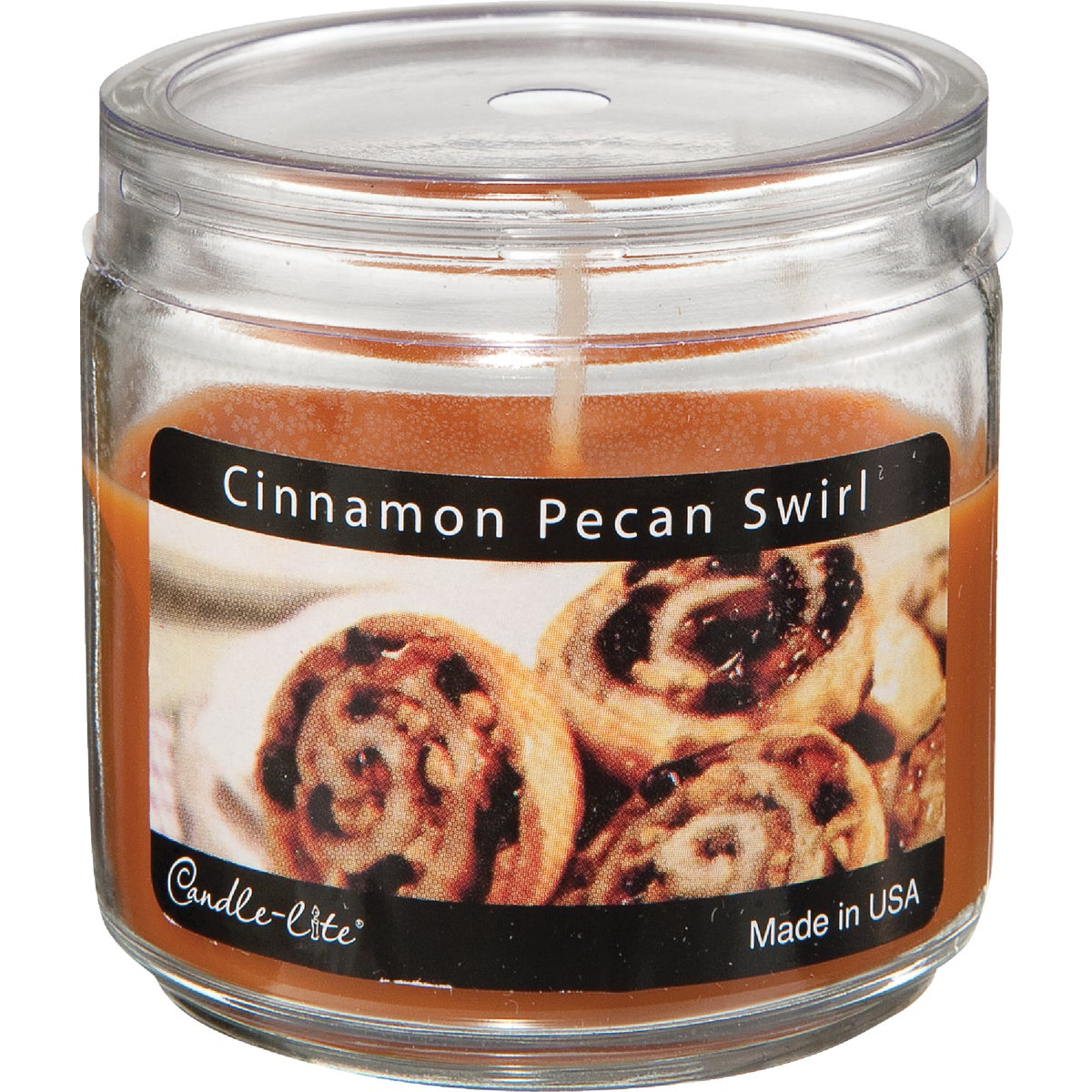 PECAN SWIRL JAR CANDLE - 2400549 by Candle Lite Co