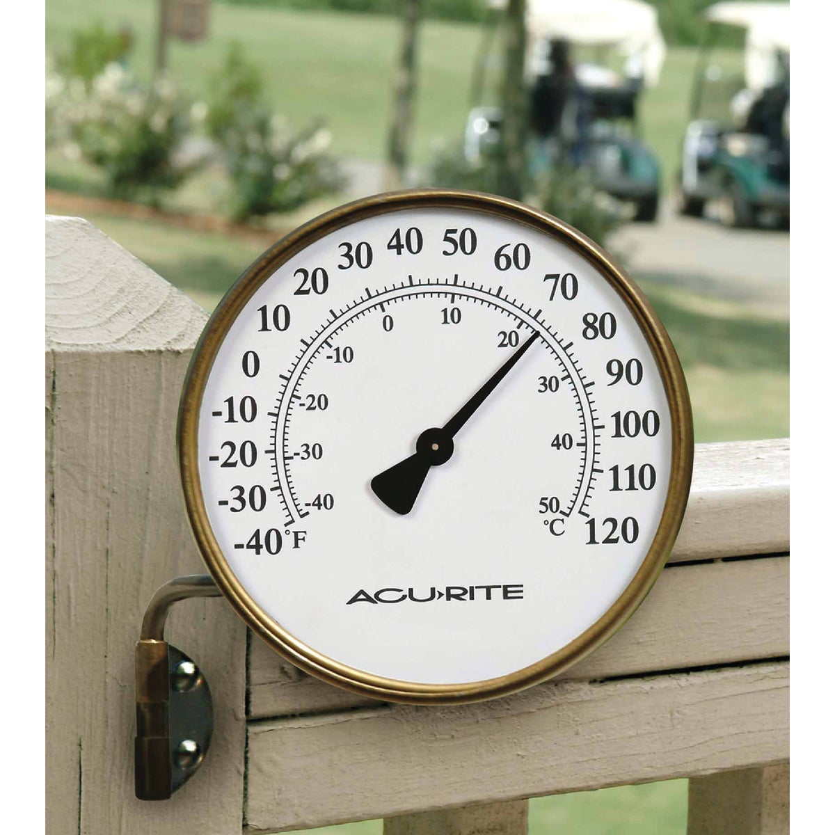 "3.5"" BRASS THERMOMETER - 00334 by Chaney Instrument Co"