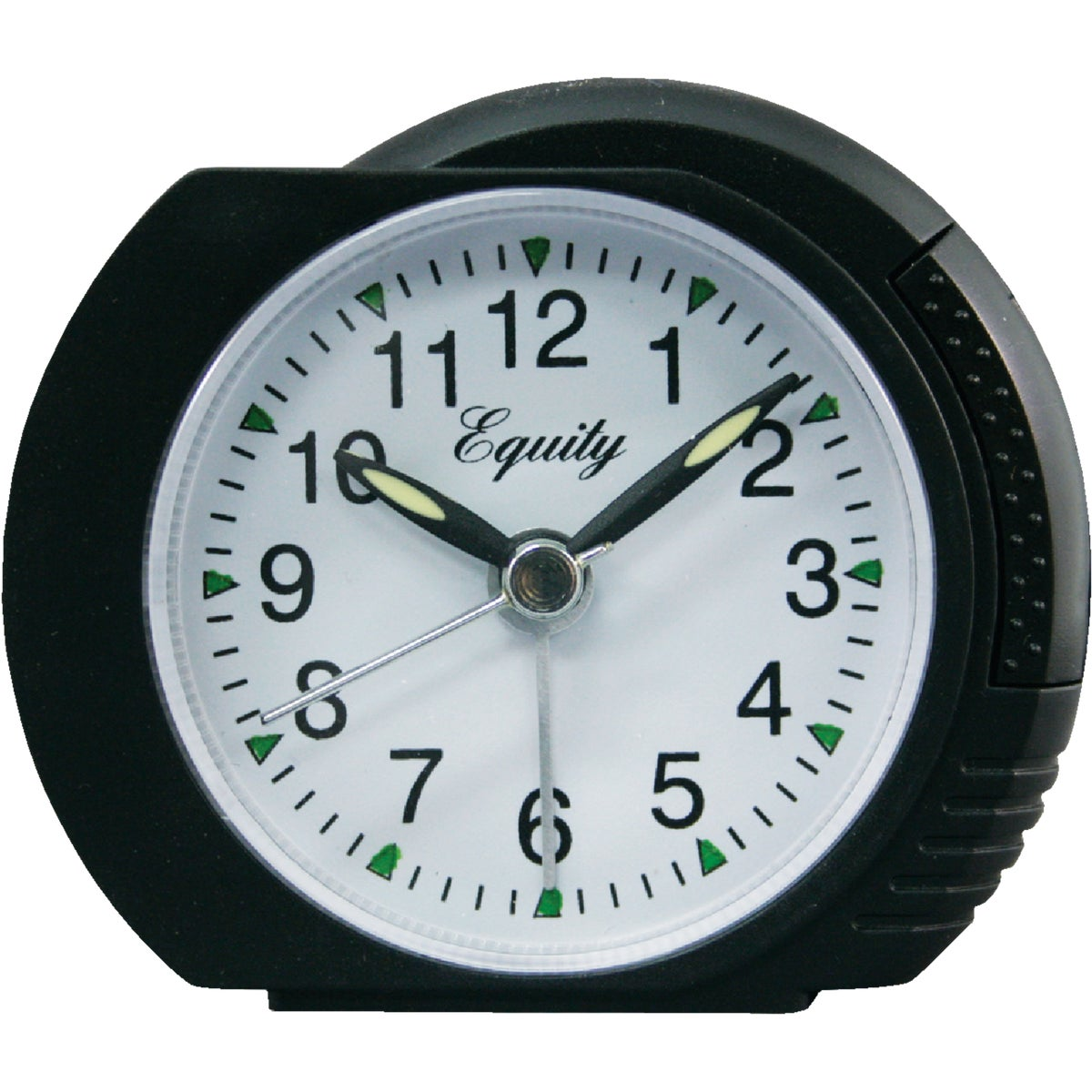 BLK QUARTZ ALARM CLOCK - 2065AT by Geneva Clock Company
