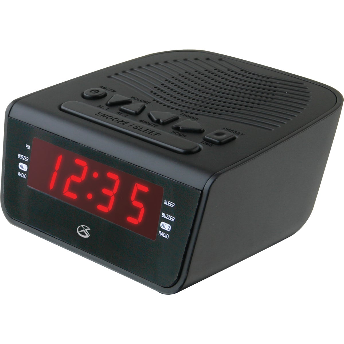 DUAL ALARM CLOCK RADIO - C224B by Dpi Inc