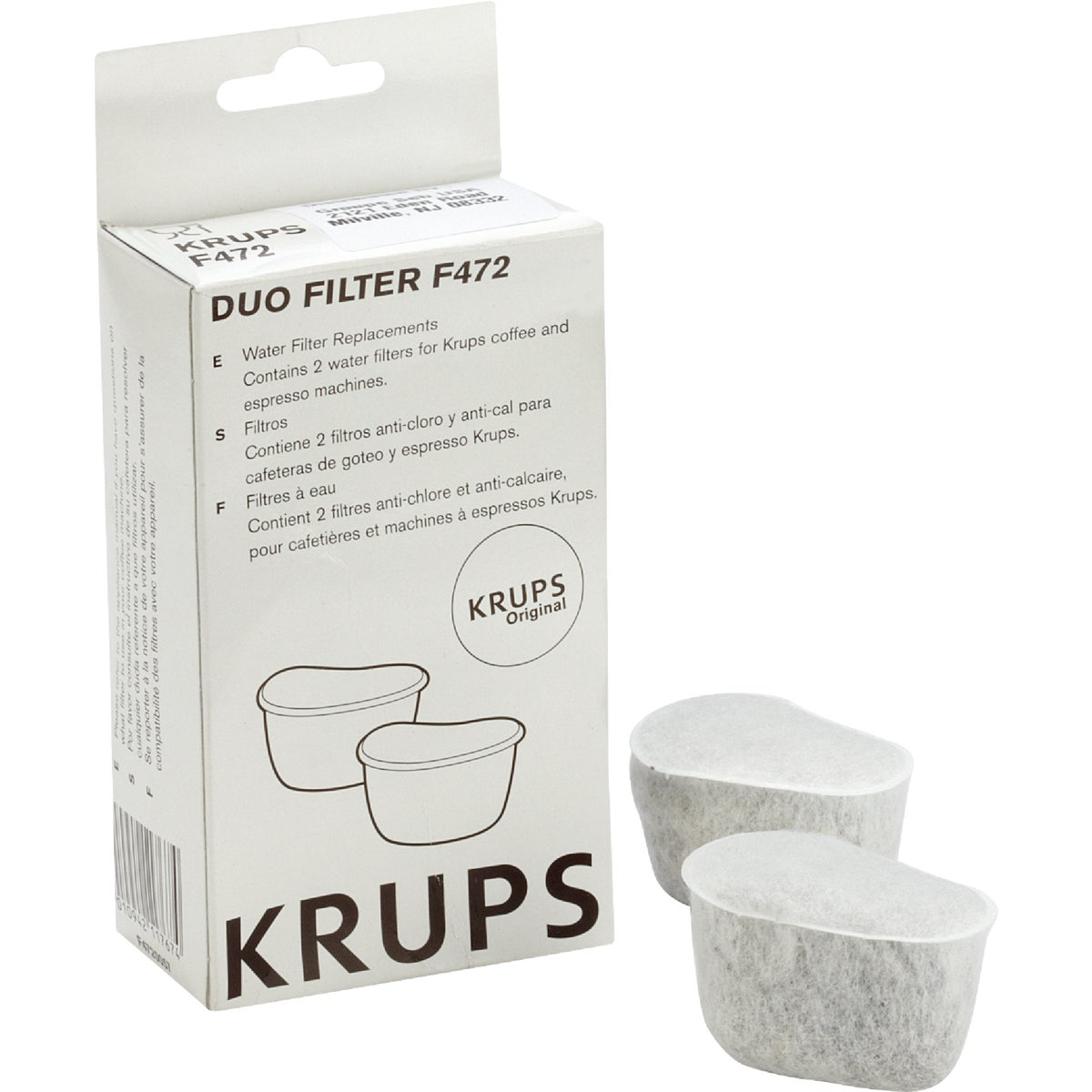 2PK DUO COFFEE FILTER - 472-00 by Krups Rowenta
