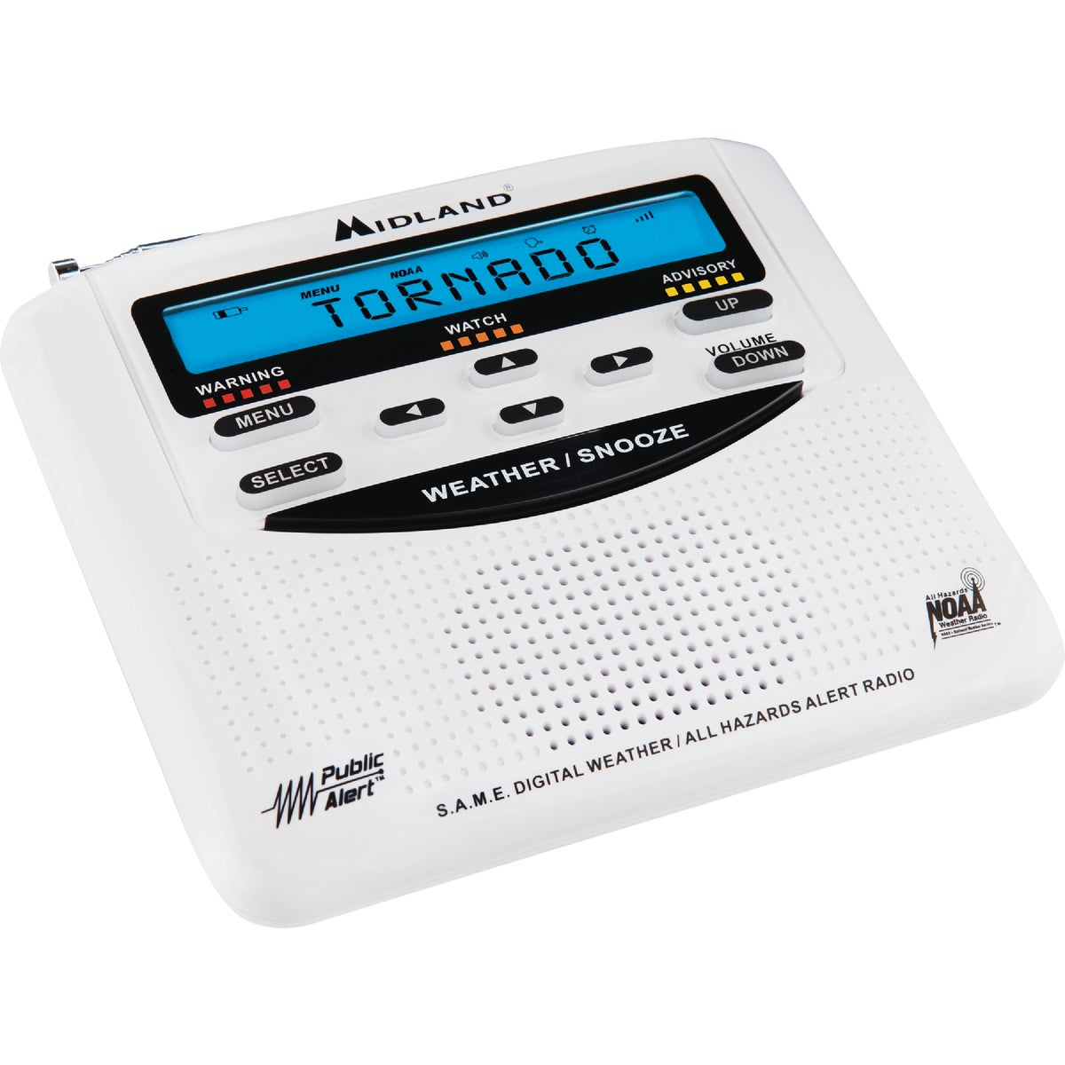 CLOCK AND WEATHER RADIO - WR-120B by Midland Radio Corp