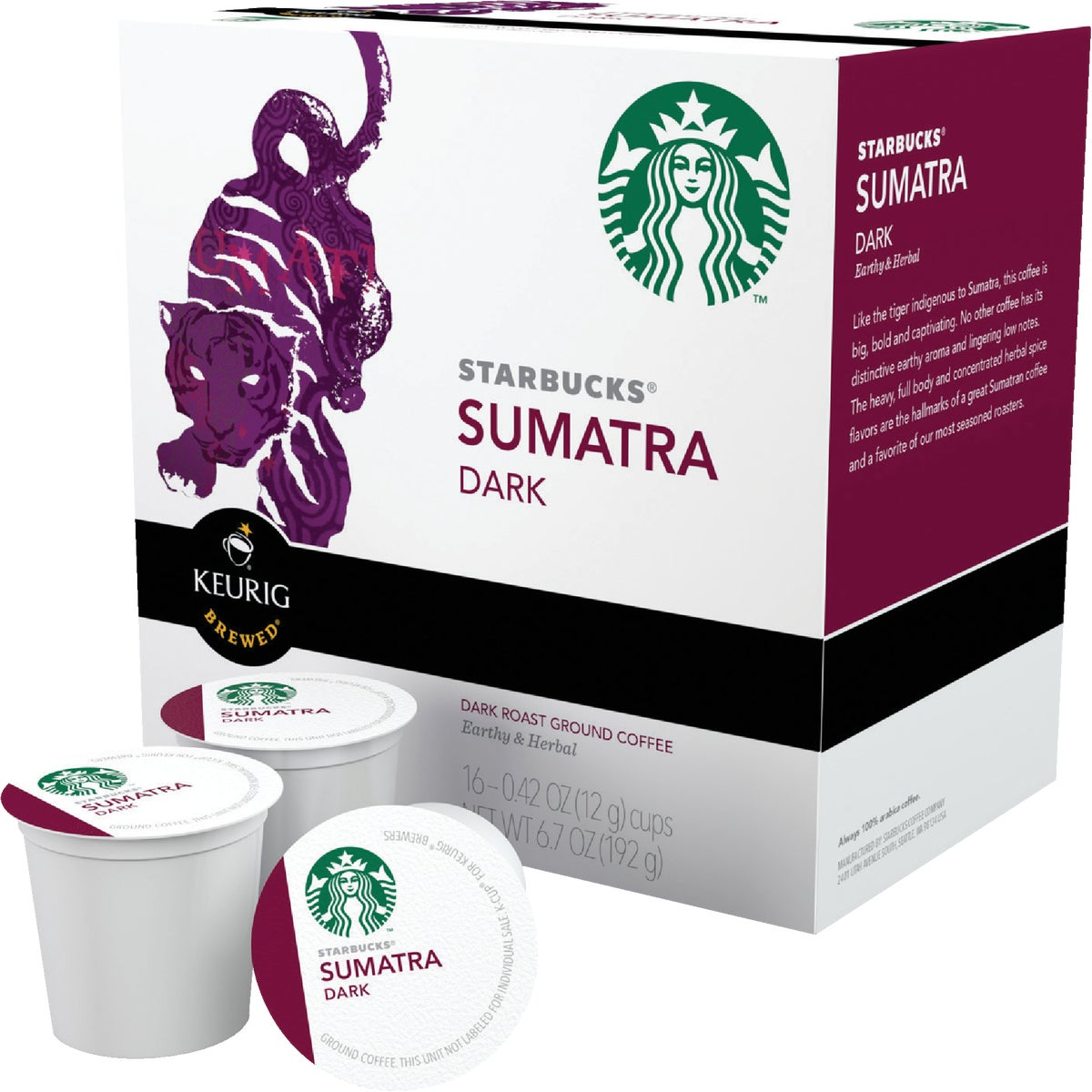 K-CUP SUMATRA COFFEE - 09511 by Keurig     M Block