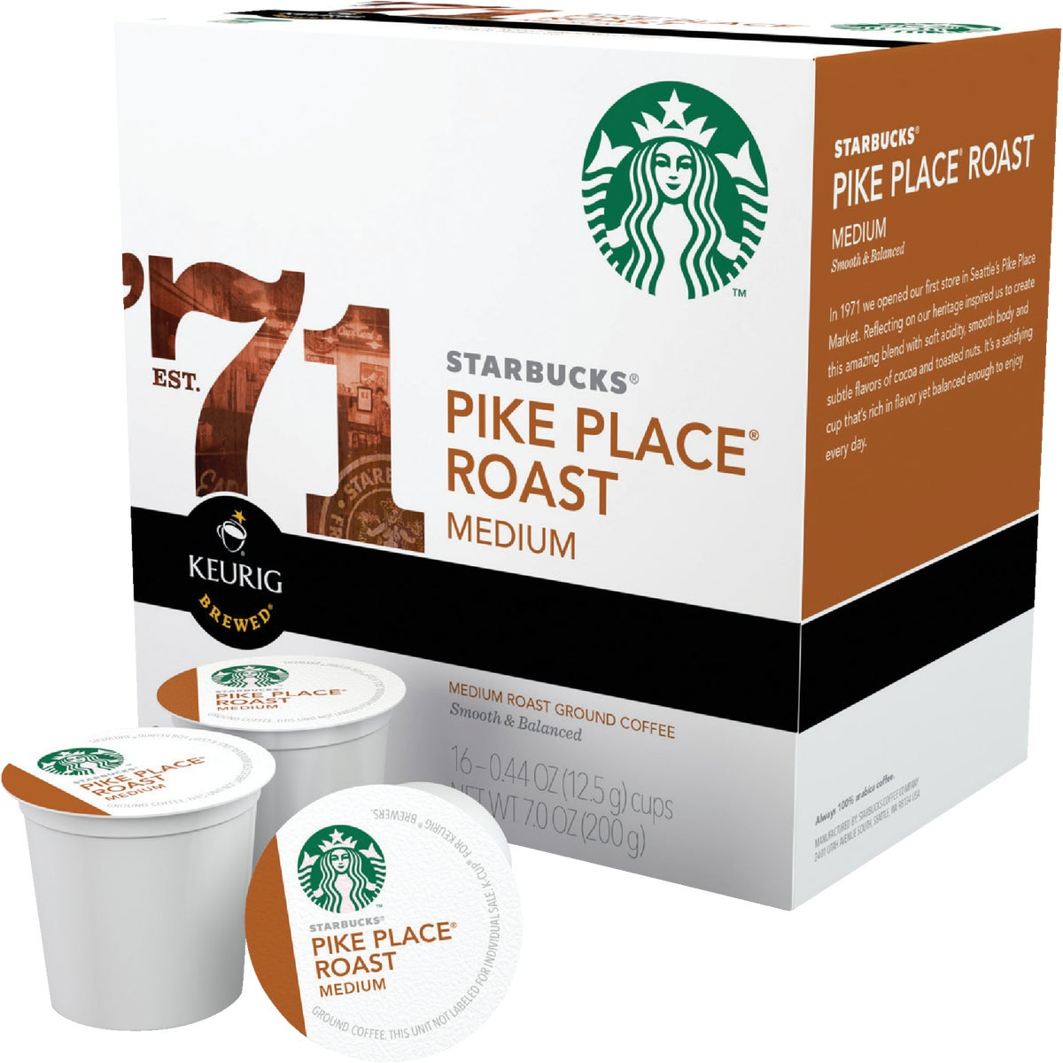 K-CUP PIKE PLACE COFFEE - 09512 by Keurig     M Block
