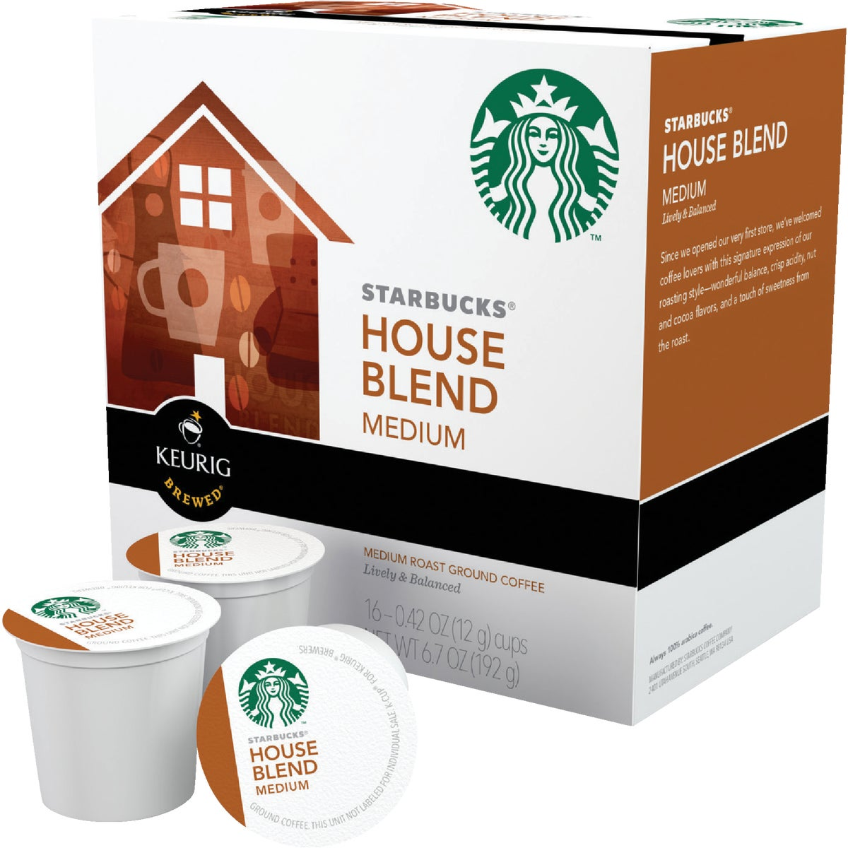 16CT HOUSE BLEND K-CUP - 09516 by Keurig     M Block