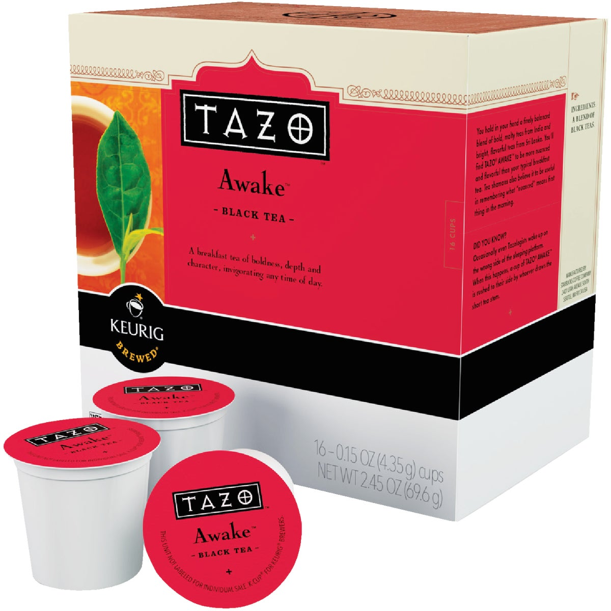 K-CUP TAZO AWAKE TEA - 10518 by Keurig     M Block