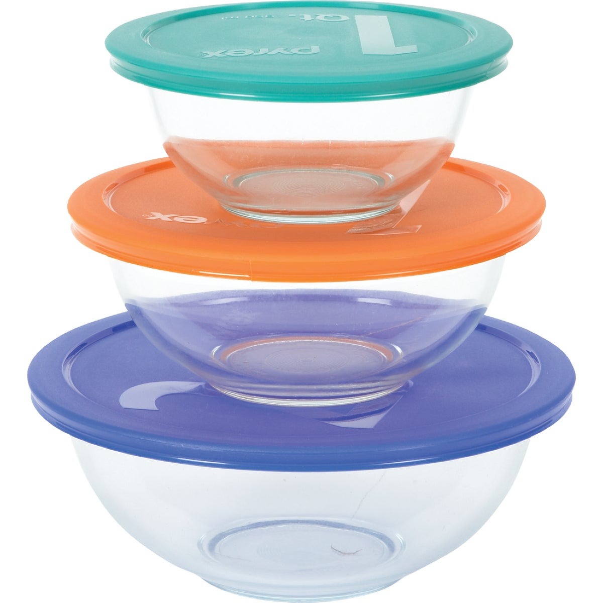 6PC PYREX BOWL SET