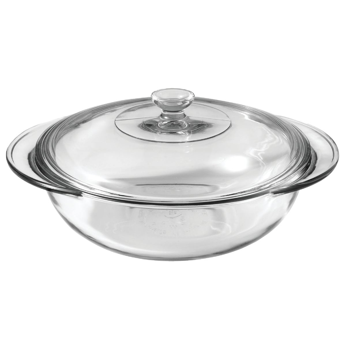 2QT GLASS CASSEROLE DISH