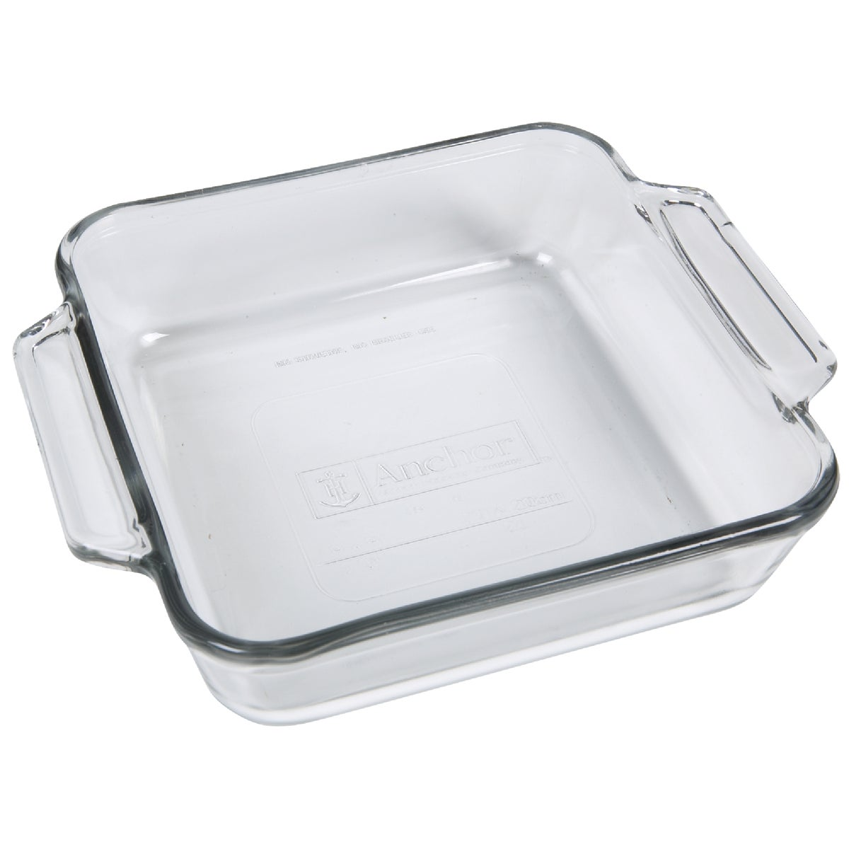 """8"""" SQUARE GLSS CAKE DISH - 81934OBL11 by Anchor Hckg Roberts"""