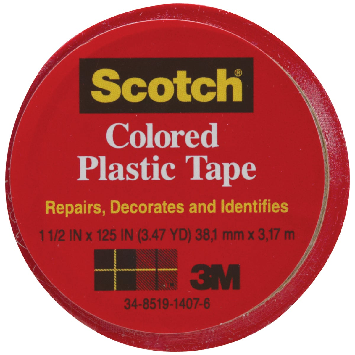 "SCOTCH 1-1/2""RED PL TAPE - 191 by 3m Co"