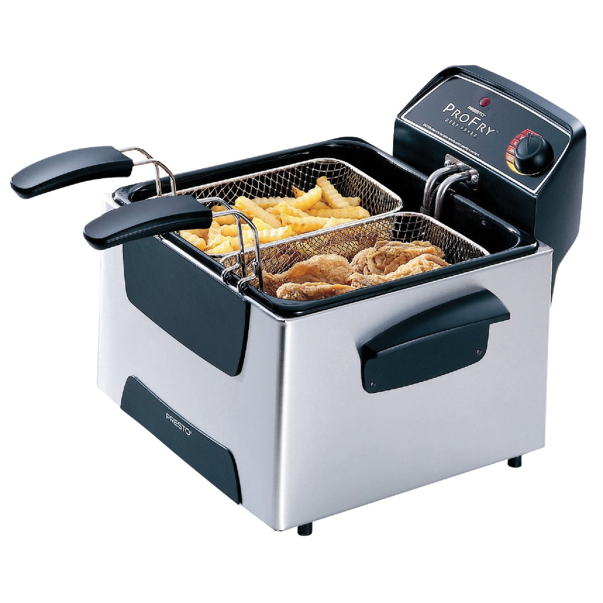 DUAL BSKT PRO DEEP FRYER - 05466 by National Presto Ind