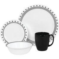 World Kitchen 16PC CITY BLK DINNERWARE 1074208