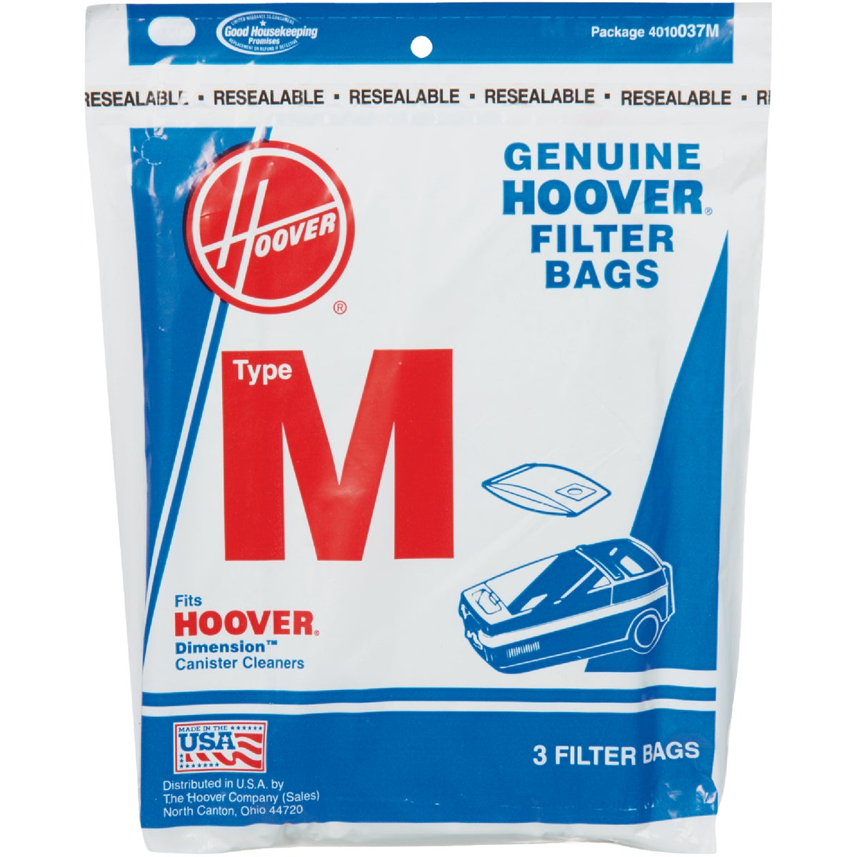 TYPE M VAC CLEANER BAG - 4010037M by Hoover Co