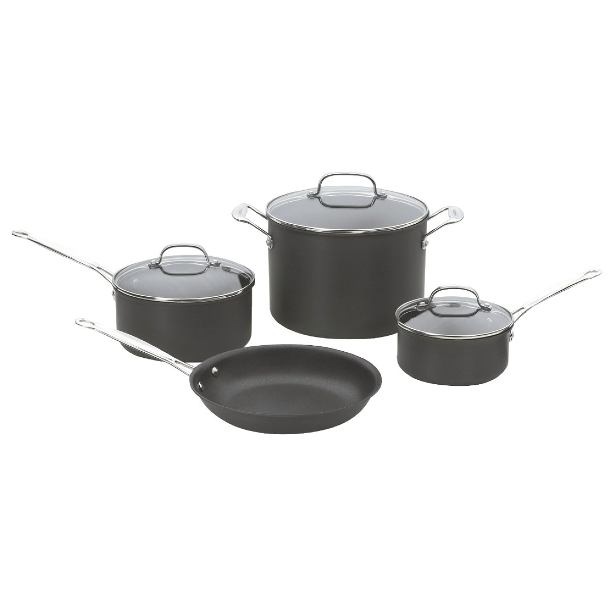 7PC ANODIZED COOKWARE - 66-7 by Cuisinart