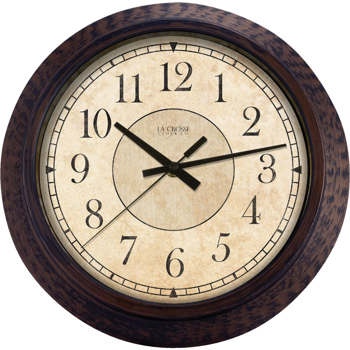 "14"" RND ANTQ WALL CLOCK - 4668G by Geneva Clock Company"