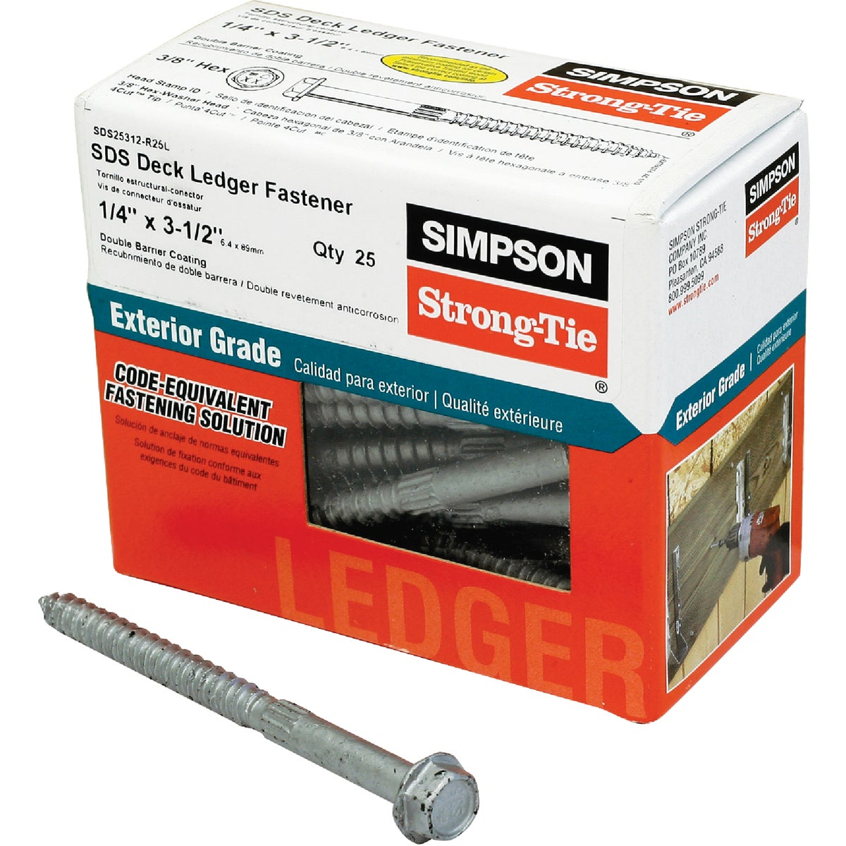 25 1/4X3-1/2 WOOD SCREW - SDS25312-R25L by Simpson Strong Tie