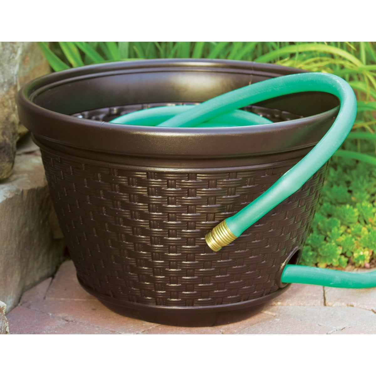 RESIN WICKER HOSE POT - HPW100 by Suncast Corporation