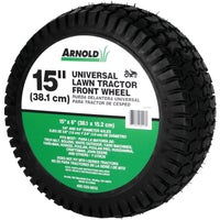 "Arnold 15"" Universal Lawn Tractor Mower Wheel, 490-325-0012"