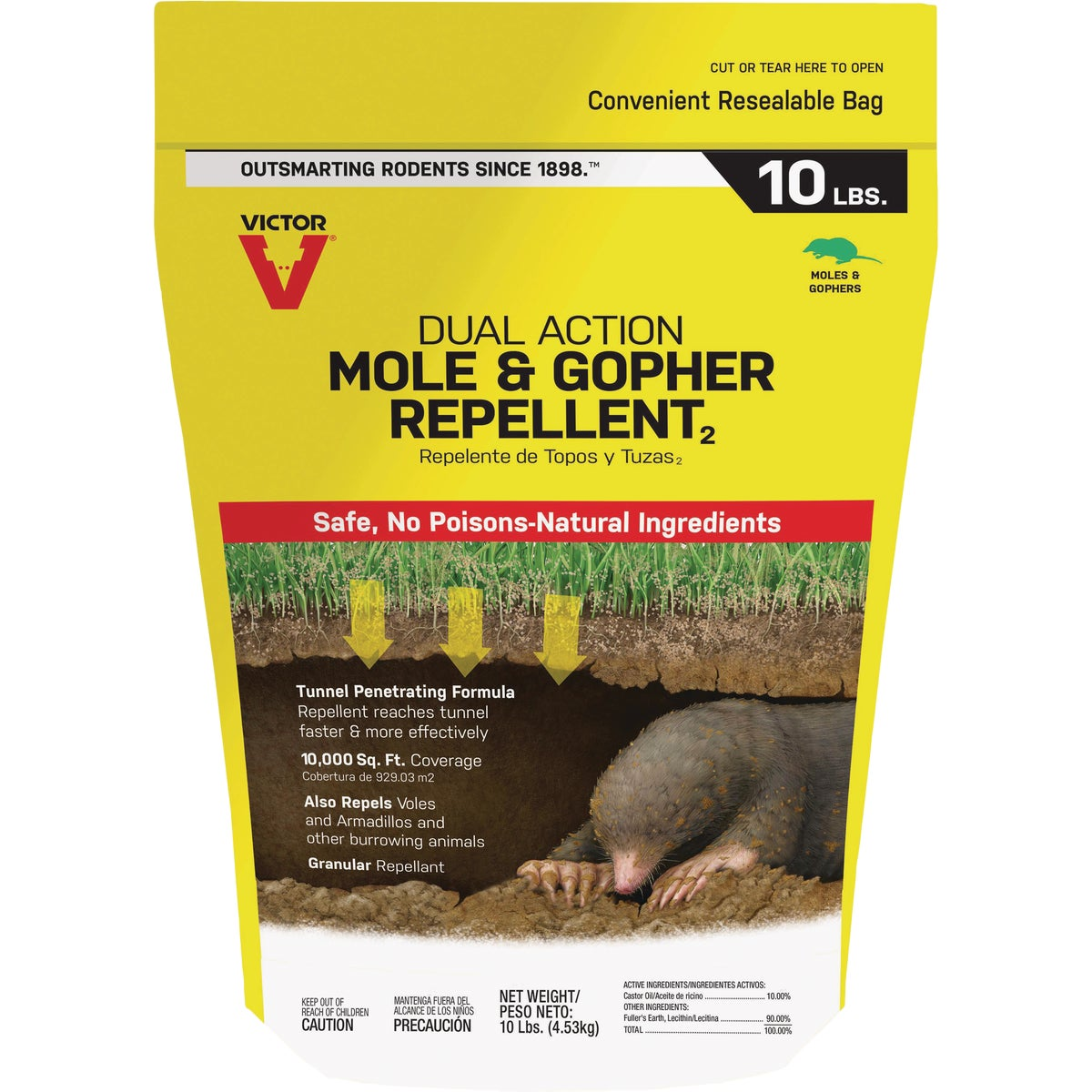 10LB MOLE/GOPHER REPEL - S7002-1 by Woodstream Corp