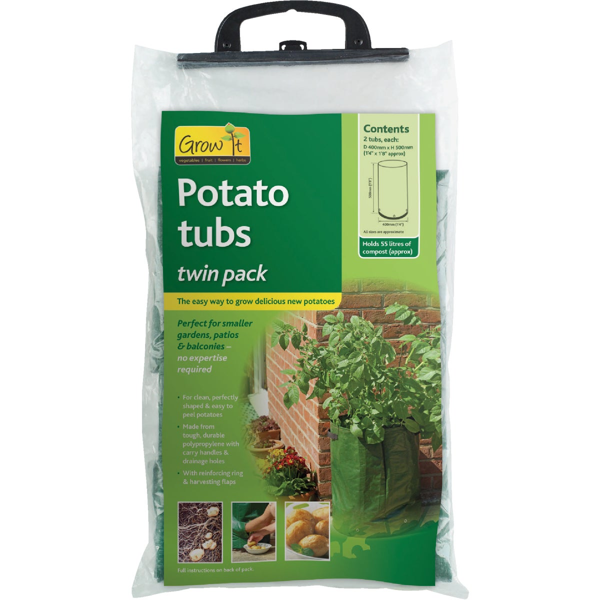 2PK POTATO GROW TUB - 7505 by Gardman Usa Inc