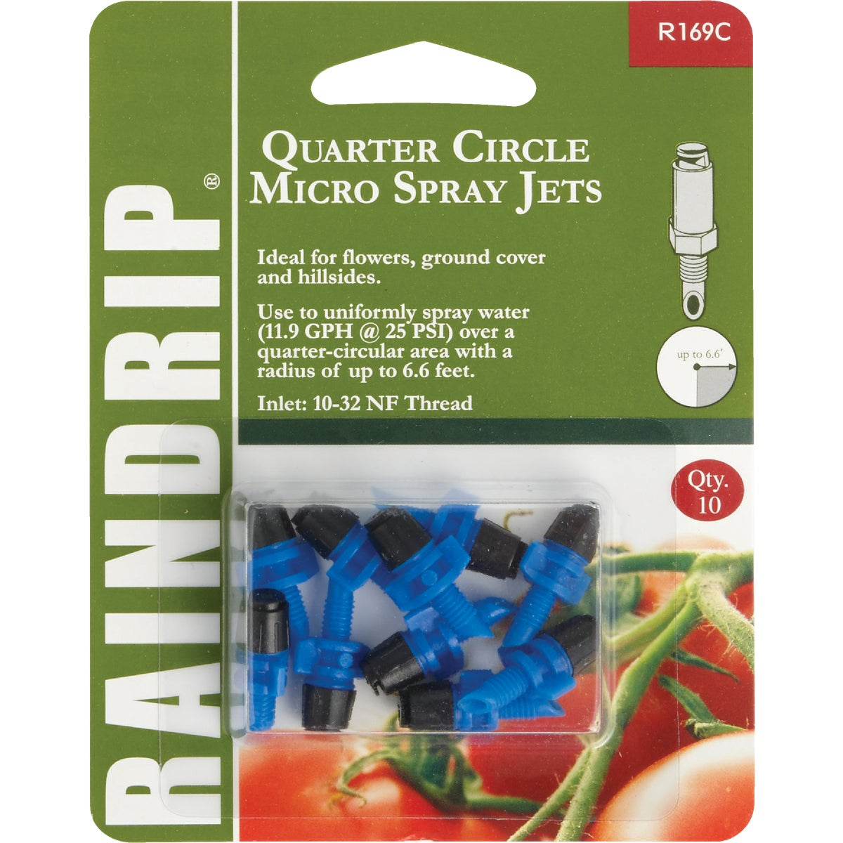 QTR CIR MICRO SPRAY JET - R169CT by Raindrip Inc