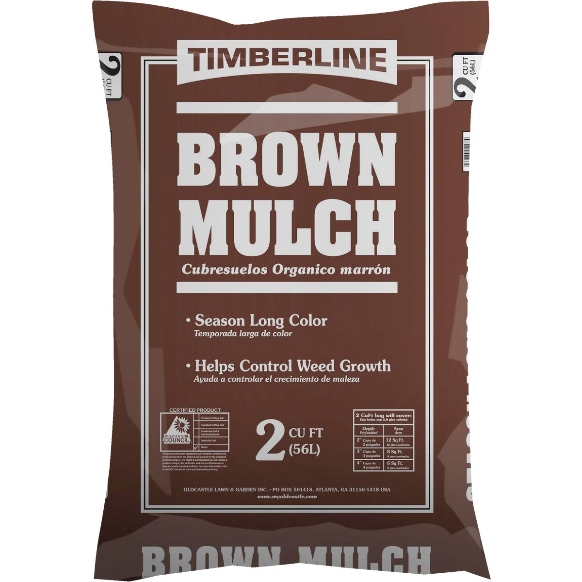 2CUFT BROWN LNDSCP MULCH