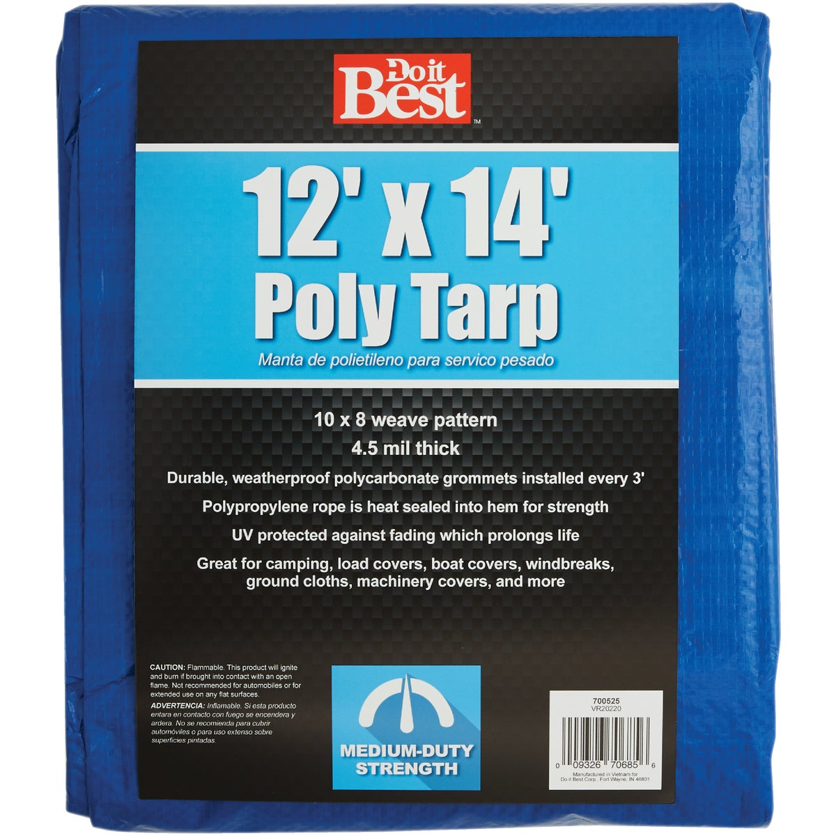 12X14 BLUE MED DUTY TARP - 700525 by Do it Best