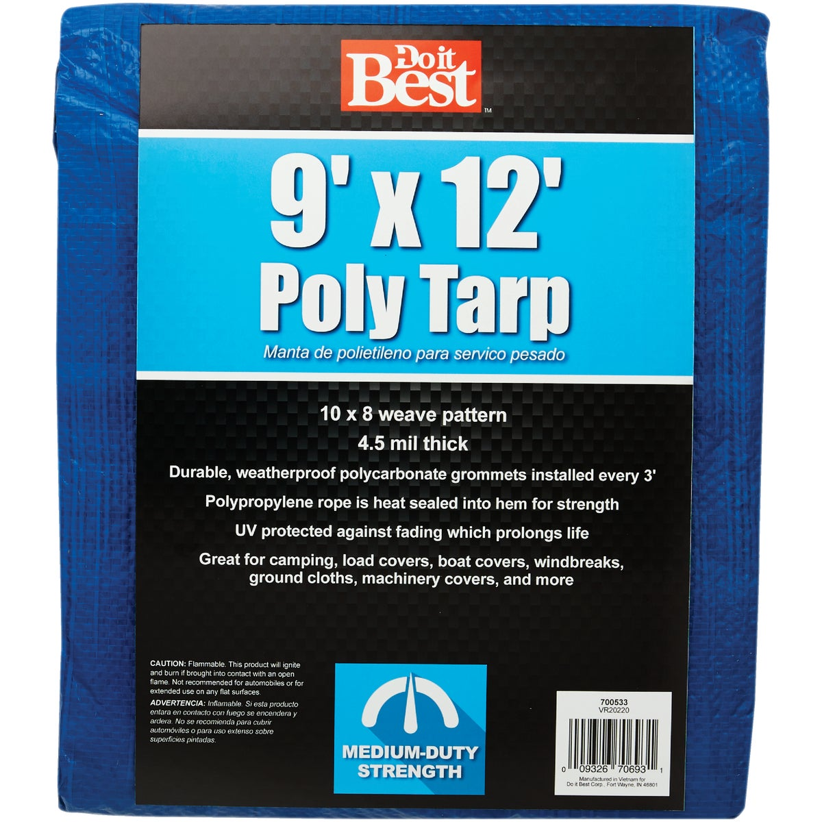 9X12 BLUE MED DUTY TARP - 700533 by Do it Best