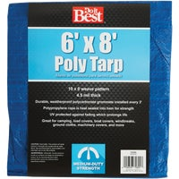 6X8 Blue Med Duty Tarp