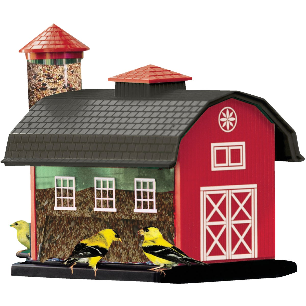 Kay Home Products RED BARN FEEDER 6290